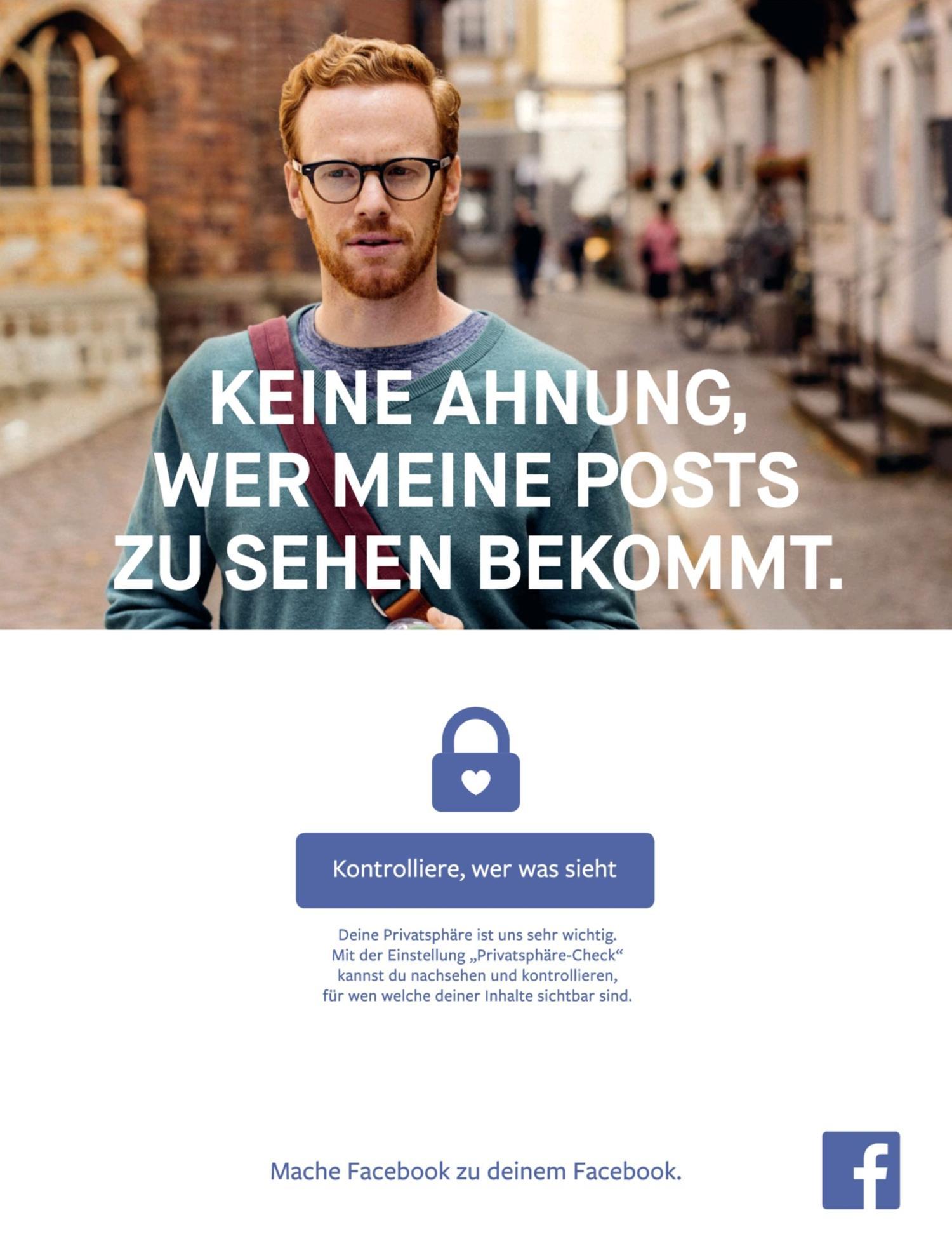 Facebook-Anzeige