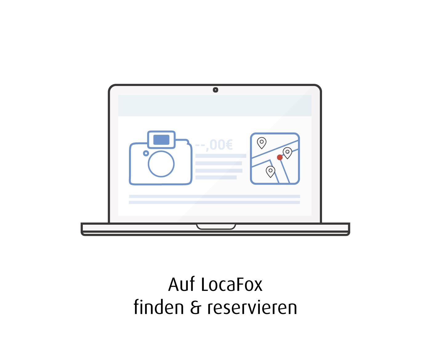 Auf Locafox finden und reservieren